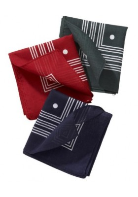 Akcesoria Chusteczki- Barbour Spotted Handkerchiefs - Boxed Set of Three