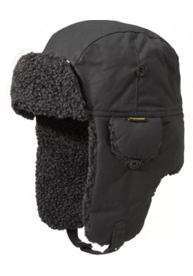 Męska czapka- Barbour Fleece Lined Trapper Waxed Hat