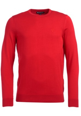 Męski sweter- Barbour Light Cotton Crew Neck Sweater