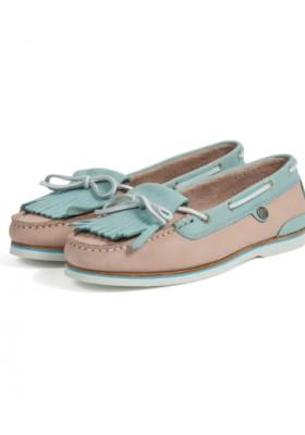 Damskie obuwie-Barbour Ellen Nubuck Boat Shoes