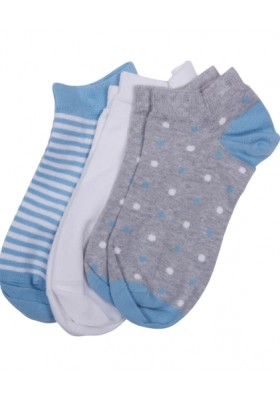 Damskie skarpety-Barbour Spot Stripe 3 Pack Socks