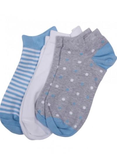Damskie skarpety-Barbour Spot Stripe 3 Pack Socks