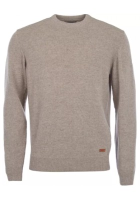 Męski sweter- Barbour Patch Crew Neck Lambswool