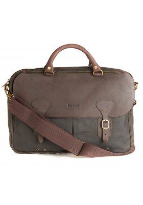Męska torba-Barbour Wax and Leather Briefcase