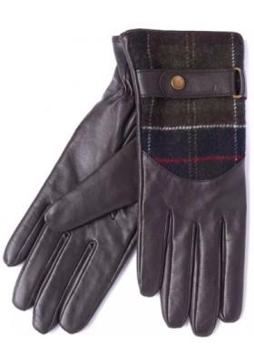 Damskie rękawice-Barbour Dee Leather & Tartan Gloves