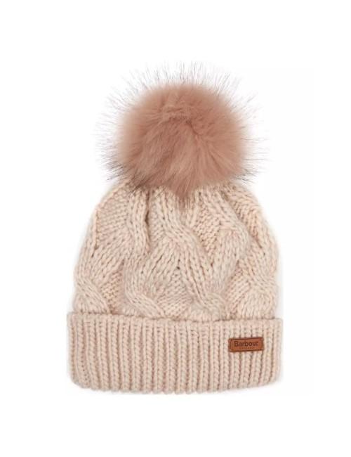 Damska czapka-Barbour Bridport Pom Pom Beanie