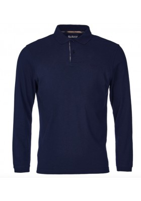 Męskie polo-Barbour Long Sleeved Sports Polo Shirt