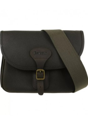 Torba-Barbour Waxed Cotton and Leather Cartridge Bag