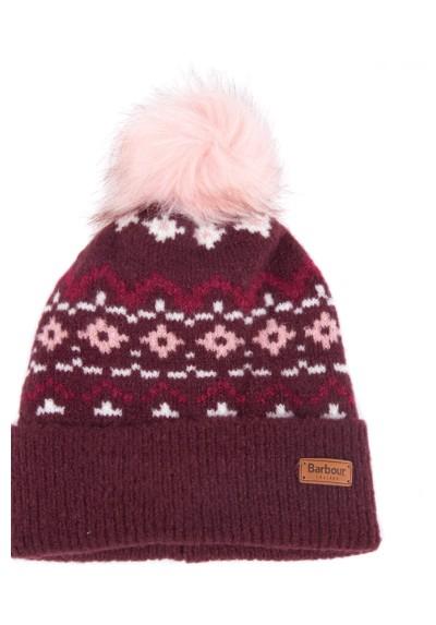 Damska czapka-Barbour Roseberry Fairisle Beanie