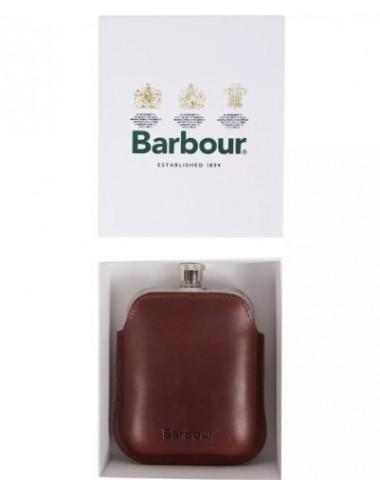 Piersiówka- Barbour Leather Hipflask