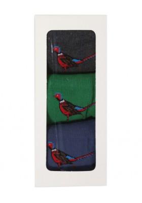 Męskie skarpety- Barbour Pheasant Stripe Gift Set