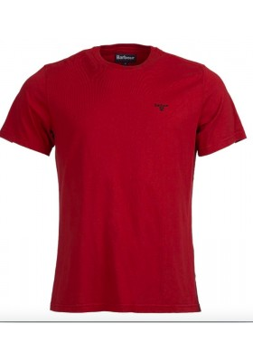 Męska koszulka-Barbour Sports Tee Red