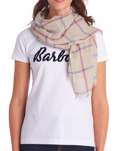 Damski szal - Women's Barbour Country Windowpane Wrap
