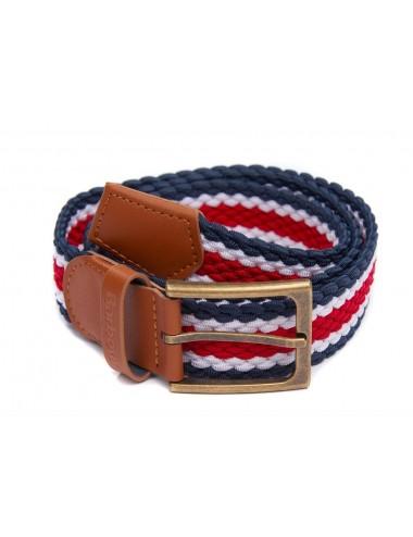 Męski pasek - Men's Barbour Striped Ford Belt