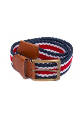Męski pasek - Men's Barbour Striped Ford Belt