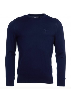 Męski sweter - Men's Barbour Light Cotton Crew Neck Sweater