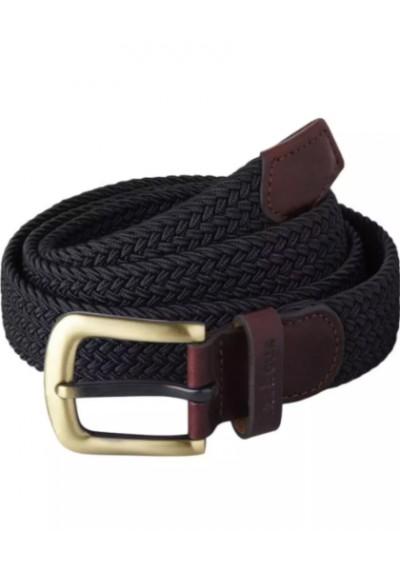 Męski pasek Barbour Stretch Webbing Leather Belt