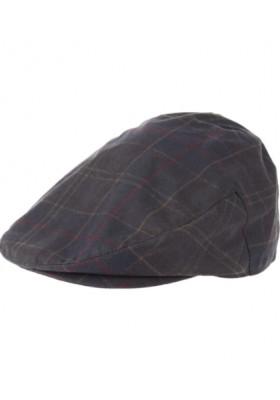 Męski kaszkiet-Men's Barbour Tartan Wax Cap