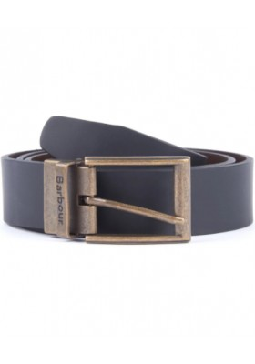 Męski pasek-Men's Barbour Reversible Leather Belt Gift Box
