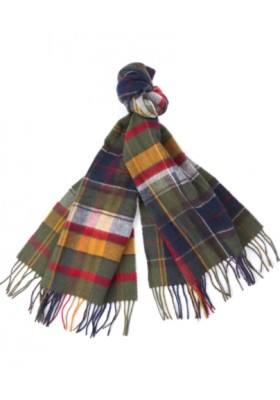 Męski szal-Barbour Mixed Tartan Scarf