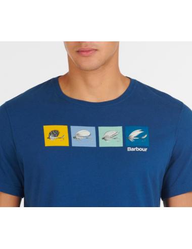 Męski t-shirt- Barbour Fish Fly Tee