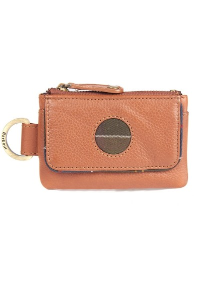 Women's Barbour Leather Coin Purse and Fob Set